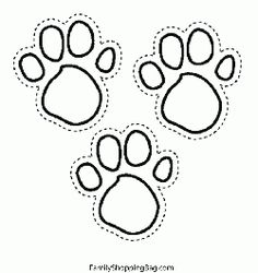 Blues Foot Prints, Blues Clues, Coloring Pages - Free Printable Ideas from Family Shoppingbag.com