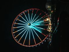 The new Ferris wheel in pigeon forge TN    An extremely awesome light show. 200 feet high. Unbelievable view.