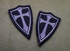Steel Flame Inc - Crusader Cross patch Black/Grey, $8.00 (http://www.steelflame.com/crusader-cross-patch-black-grey/)
