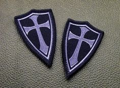 Steel Flame Inc - Crusader Cross patch Black/Grey, $8.00 (http://www.steelflame.com/crusader-cross-patch-black-grey/)