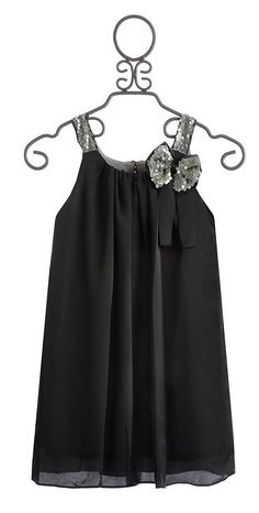 Isobella and Chloe Girls Holiday Dress in Dark Gray