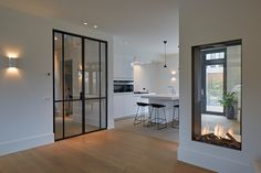 Timeless villa with classic details AA + Design agency - Tijdloze villa met klassieke details House Extension Plans, House Extension Design, Living Room White, Home Living Room, Fireplace Design, Home Fashion, Home Interior Design, Luxury Homes, Home Furniture