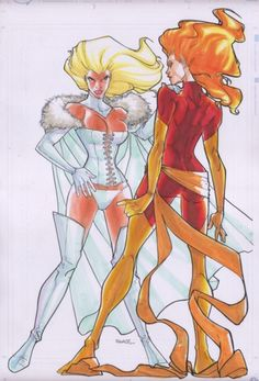 Emma Frost and Jean Grey