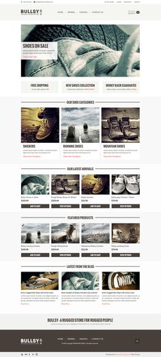 Bullsy - A Rugged Ecommerce Template by premiumcoding.com on Creative Market