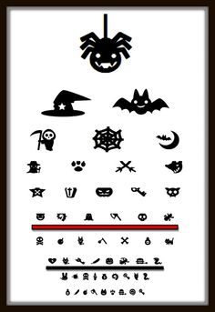 from Gardners 2 Bergers: ✥ Halloween Eye Chart {printable} ✥