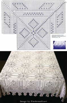 Crochet Popcorn Stars Crochet Popcorn Stars & Diamonds Bedspread Square Has a Native American vibe, This post was discovered by TCThe popcorn stitch curv Crochet Bedspread Pattern, Crochet Edging Patterns, Crochet Quilt, Granny Square Crochet Pattern, Crochet Motifs, Crochet Tablecloth, Crochet Pillow, Crochet Diagram, Crochet Chart