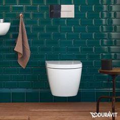 Duravit ME by Starck Wand-Tiefspül-WC Compact, rimless weiß mit Wondergliss