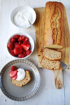 Coconut Bread with Fresh Strawberries