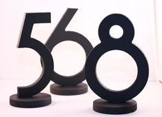 Wedding Table Numbers for Weddings and Events by ZCreateDesign