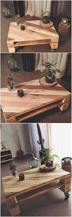 For the bedrooms being small in size structures, the idea of placing this awesome wood pallet table design is perfect one. It not just look trendy but it definitely turn out to be eye catching for the person whosoever make an entrance in your room.