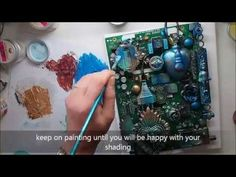 Mixed media Assemblage Altered Art for Finnabair Creative Team 'Within heart beat' - YouTube