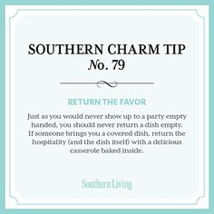 Tip #79: Return the favor - Secrets to Southern Charm | Southern Living