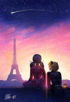 Miraculous Ladybug and Chat Noir Art Lady Bug, Anime Miraculous Ladybug, Ladybug Und Cat Noir, Miraculous Ladybug Wallpaper, Meraculous Ladybug, Super Cat, Pics Art, Framed Art Prints, Cats