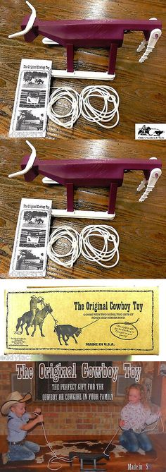 Rodeo and Roping Equipment 114226: The Original Cowboy Toy Team Roping Toy Maroon And White New (Free Shipping) -> BUY IT NOW ONLY: $44.9 on eBay!