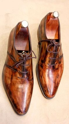 Handmade Special Design Luxury Wooden Mens Shoes