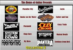 Cowboys From Hell, Metal Songs, Paradise City, Black Sabbath, Hit Songs, Father And Son, My Hero, Guitar, House