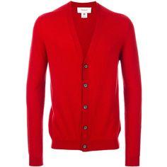 Pringle Of Scotland V-neck cardigan (3.105 BRL) ❤ liked on Polyvore featuring men's fashion, men's clothing, men's sweaters, red, mens vneck sweater, mens cardigan sweaters, mens cashmere v neck sweater, mens v neck sweater and mens v-neck cashmere sweaters