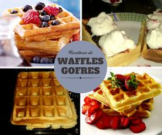 En nuestro recetario hay varias recetas de Waffles o Gofres. Te invitamos a verlas: http://www.solopostres.com/rr124.html