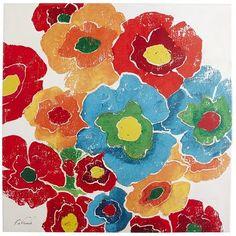 Flower Burst Art. 35x35. $130