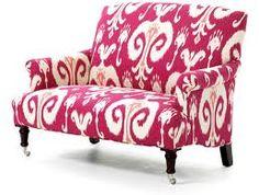 pink ikat sofa