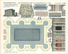 Many thanks to Tom for this great Epinal model! Bastille -  rest of templates at the site