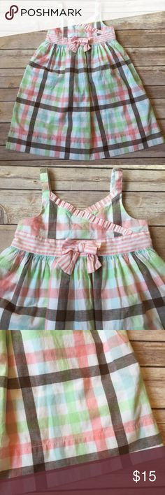 Janie and Jack Beautiful Janie and Jack spring or summer dress. Size 3T. 100% cotton. Beautiful pastel colors and soft cotton. Buttons on back. No stains. Very good used condition. Janie and Jack Dresses