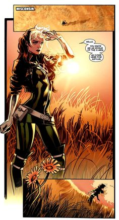 The adopted daughter of Mystique, Rogue was once a member of the Brotherhood of Evil Mutants. Now reformed, Rogue has become a veteran member of the X-Men. Marvel Women, Marvel Girls, Comics Girls, Gambit X Men, Rogue Gambit, Marvel Comics, Marvel Heroes, Rogue Comics, Marvel Dc