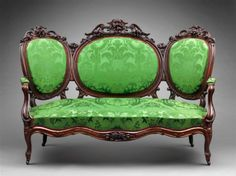 Sofa (from a Rococo revival parlor set), 1850-1870, probably Boston, MA. Museum of Fine Arts, Boston.