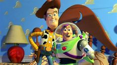 Buzz Lightyear and Woody strike a pose on the Trends International Toy Story - Pals Wall Poster . The stars of Toy Story stand out on this kid-friendly. Toy Story 3, Toy Story 1995, Story Time, Film Pixar, Pixar Movies, Disney Movies, Cartoon Movies, Cartoon Kids, Disney Pixar