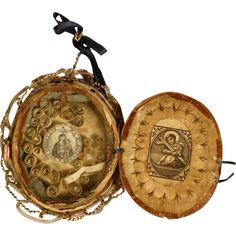 Reliquary Mary Help of Christians 18th Century Monastery Work
