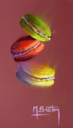 Macarons 2 By Michel Breton : http://michelbretonpastels.blogspot.com/