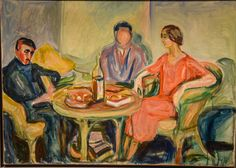 Edvard Munch - Oslo Bohemians, 1926 at Munchmuseet Oslo Norway