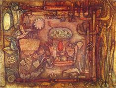 Paul Klee - Botanical Theater; Creation Date: 1924; Medium: Oil and watercolor on board; Dimensions: 50.2 x 67.2 cm