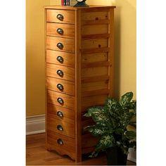 Craftsman Mission 10-Drawer Solid Pine File Cabinet