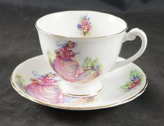 Windsor Fine Bone Cup & Saucer featuring PINKIE