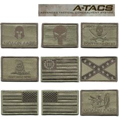 """I NEED that Nyberg Flag 3% patch in my life. Gadsden and Culpeper 2""""x3"""" Tactical Patches for ATACS (Front of Hats) $3.96"""