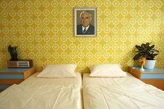 Room in the Ostel hotel in (East) Berlin
