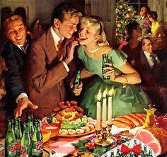 Merry Christmas, Xmas, Vintage Holiday, Happy New Year, Santa, Retro, Snowman, Celebrations, Christmas