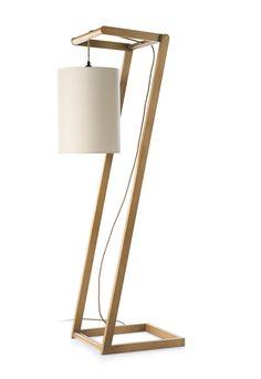 Luminária de pé de cinza estilo moderno KENDO by ENVY