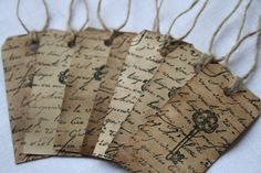 Aged Wish Tags 10 tags per bundle by CookstoveCreations on Etsy, $13.00