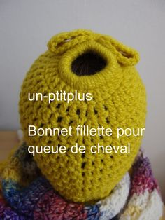 BONNET FILLETTE POUR QUEUE DE CHEVAL : Chapeau, bonnet par un-ptitplus