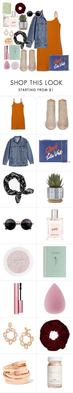 """out law"" by katniss1212 on Polyvore featuring Aquazzura, Lizzie Fortunato, philosophy, Too Faced Cosmetics, Tory Burch, Miss Selfridge, Repossi, Flynn&King and Pré de Provence"