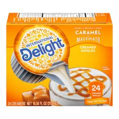 Keurig Recipes, Caramel Pudding, Single Serve Coffee, Beverage Packaging, Coffee Creamer, Coffee Pods, Lactose Free, Serving Size