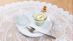 Vorspeisenteller mit Suppenschälchen. Creme, Panna Cotta, Ethnic Recipes, Food, Oven, Recipies, Dulce De Leche, Essen, Meals