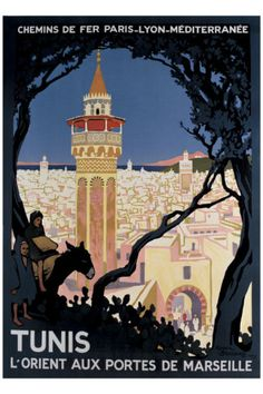 Tunis Travel poster by Roger Broders