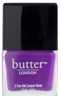 Bright, purple-violet nail lacquer. As with all butter LONDON crème nail lacquers, Brummie goes on smooth and creamy.