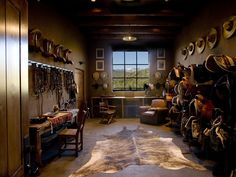 If we have horses, we'll need this tack room.
