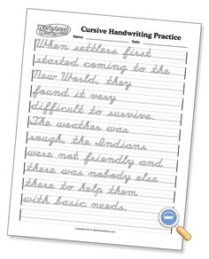 Cursive Alphabet Discover Great worksheets for cursive practice and mastery. I love that I can create a customized practice sheet which helps keep my daughter really focused.