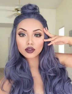 LOVE the make up!! 42 Cool Pastel Hair Color Ideas for 2017
