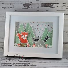 Miss Pinks Craft Spot featuring Stampin' Up! products by Sue Vine, Adelaide South Australia Pink Crafts, 3d Paper Crafts, Foxy Friends Punch, Stampin Up Anleitung, Cards For Friends, Stampin Up Foxy Friends Cards, Stamping Up Cards, Animal Cards, Home And Deco